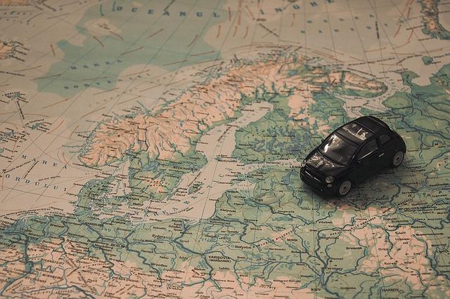 autíčko na mapě