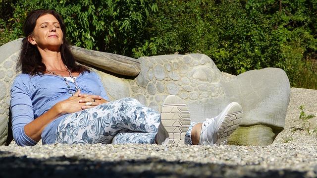 relaxace ženy