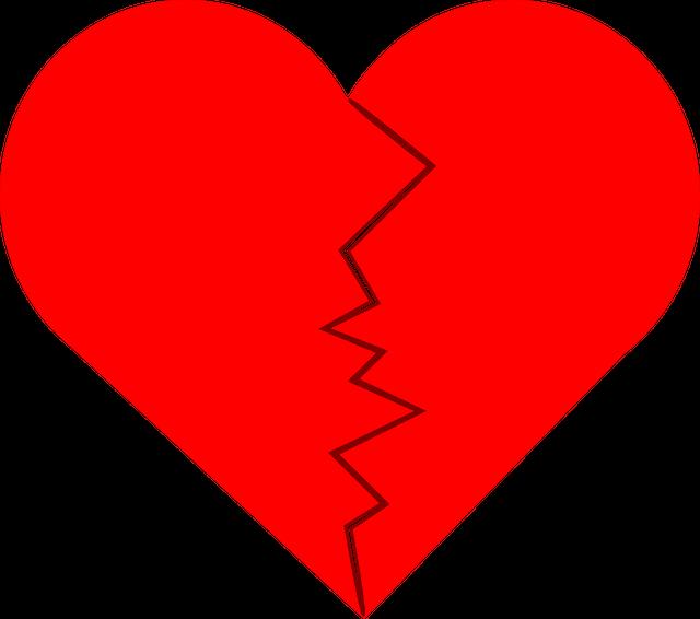 rozbité srdce