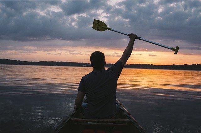 vodák na jezeře